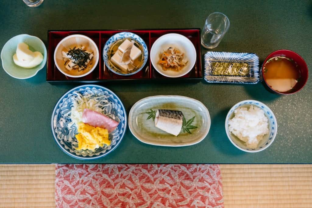 Breakfast at Kanoe Lodge in Iiyama, Nagano