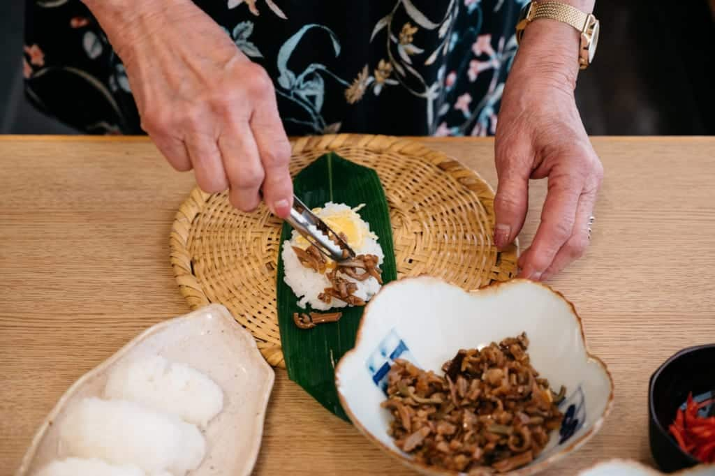 Sasazushi making experience at Kanoe Lodge