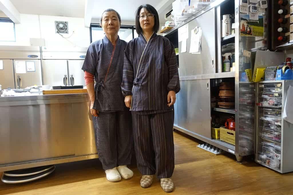 Managers of the ryokan Yunoyado Motoyu club in Yuzawa, Akita Prefecture