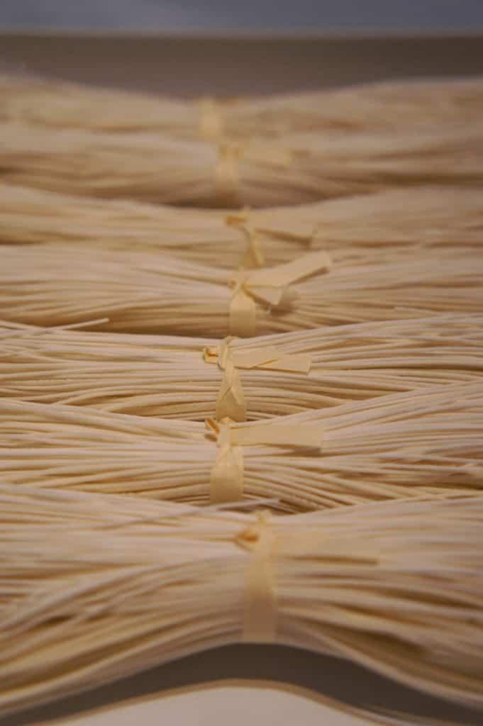 Raw somen noodles from Saruwatari