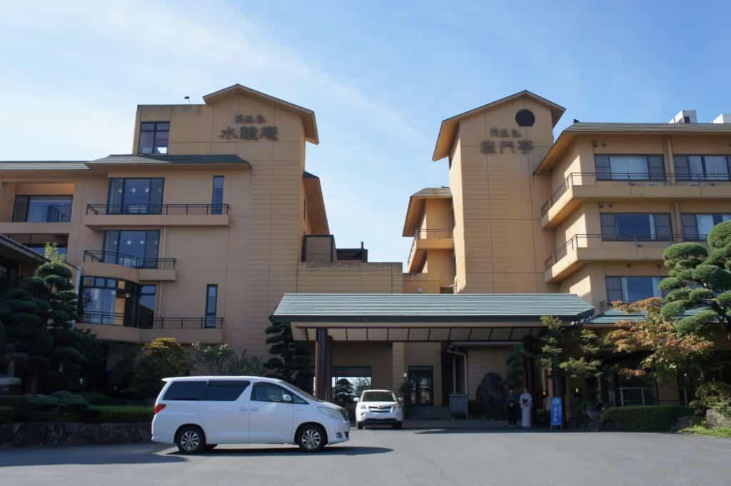 The building of Seiryuso ryokan in Yamaga Onsen