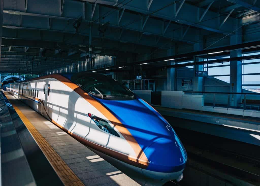 Hokuriku Shinkansen train at Iiyama Station