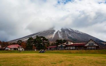 Milk no Sato with Mt. Daisen in the background