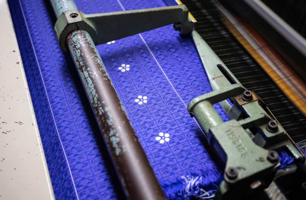 The Sanui Textile factory in Fukuoka.