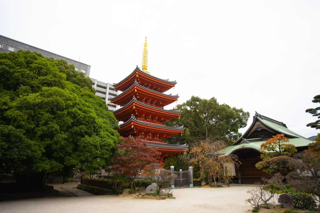 Tochoji Temple in Fukuoka City.