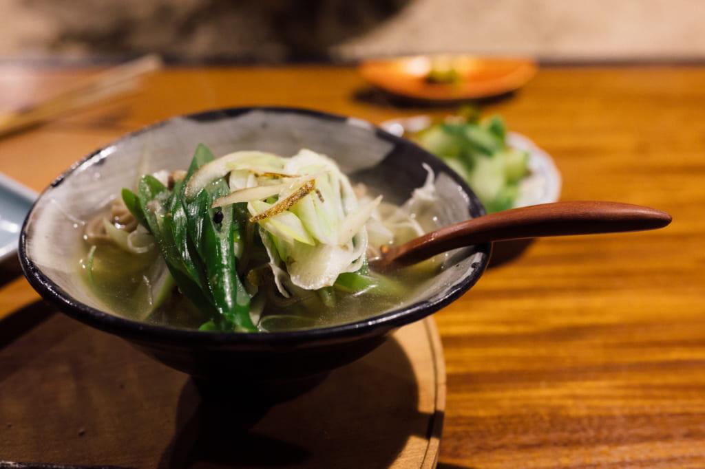 Soupe au Zenzo Ryokan à Waita Onsen Kumamoto