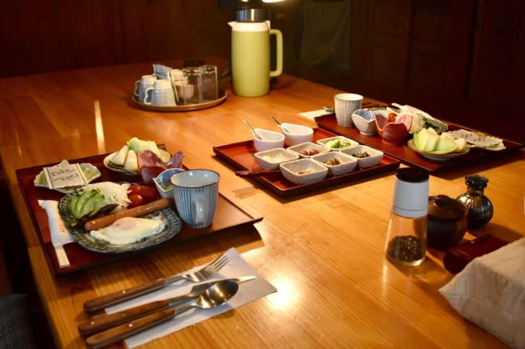 Repas composé de spécialités de Kumamoto