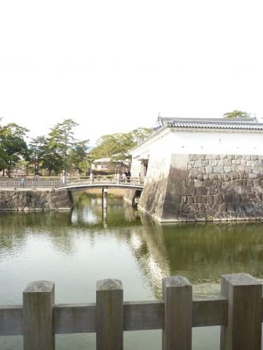 Fosos del castillo de Hakone, en Kanagawa (Japón)