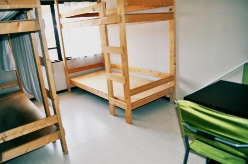 Habitación para varias personas en la guest house Kumano Backpackers en Hongu (Wakayama)