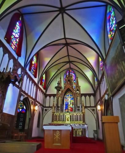Vitrinas de la Iglesia de Oura en Nagasaki
