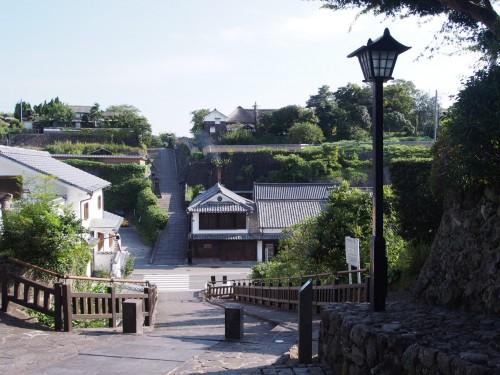 Calles de Kitsuki, en Oita (Japón).