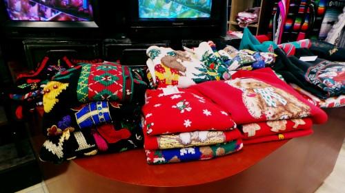 Jerseys de Navidad en Japón.