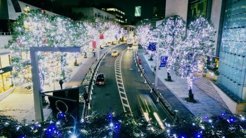 Decoración de Navidad en Tokio, Japón.