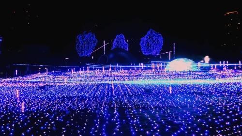 Luces de Navidad en Tokio, Japón.