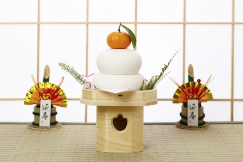 Kagamochi típico del año nuevo en Japón