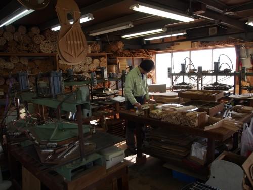 Taller y fábrica de guitarras japonesas Yairi
