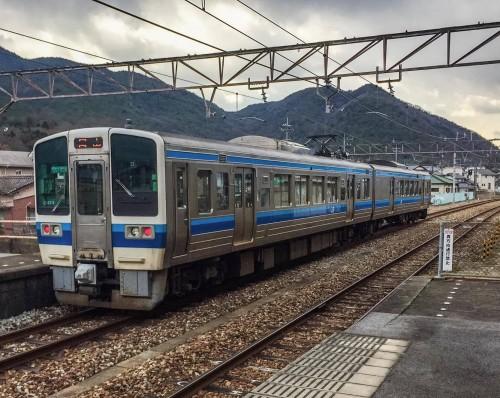 Tren en Setouchi, Okayama.