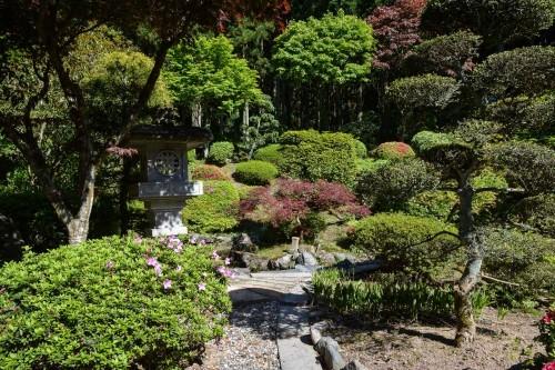 Jardines del templo Chorakuji de Murakami.