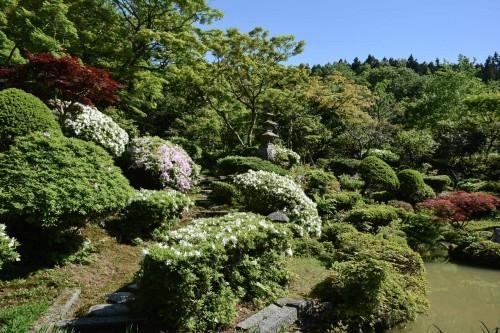 Jardines del templo Manpukuji de Murakami.