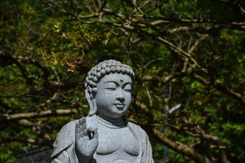 Estatua del templo Kōtoku-ji de Murakami.