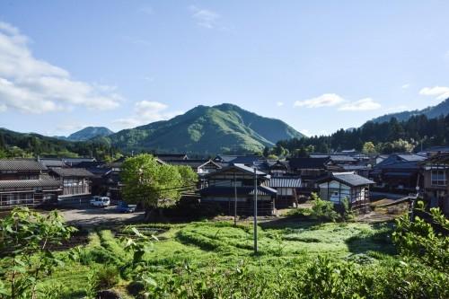 Vistas desde una habitación de la granja Zaigomon de Takane.