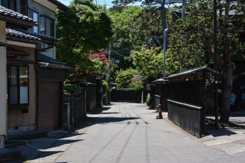 Kurobei, calle samurái de Murakami.
