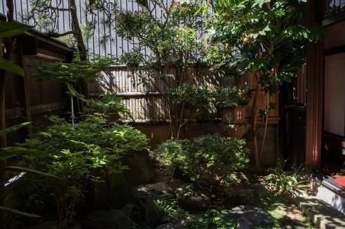 Jardín de Kikkawa, tienda de salmón de Murakami.