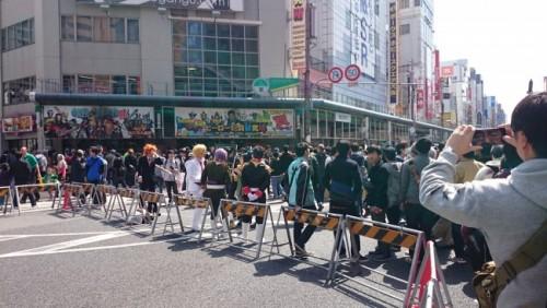 Nipponbashi durante el festival de cosplay de Osaka.