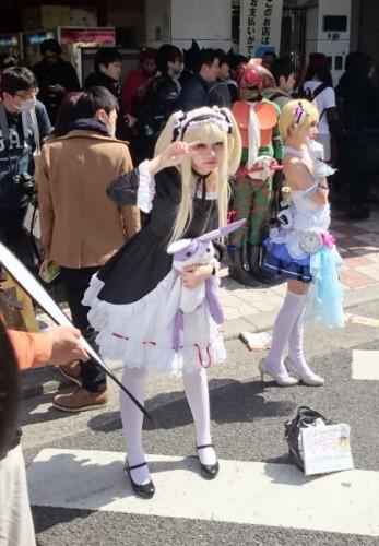 Lolita en el festival de cosplay de Osaka.