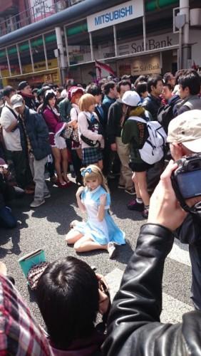 Alicia en el festival de cosplay de Osaka.