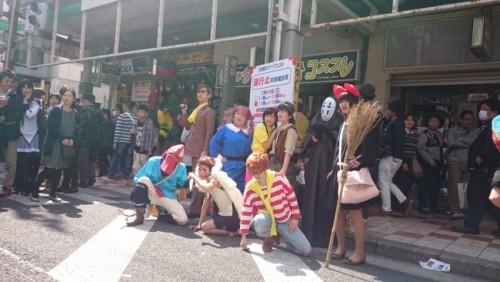 Personajes de Ghibli en el festival de cosplay de Osaka.