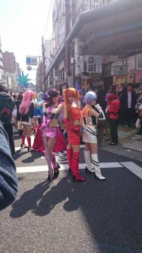 Evangelion en el festival de cosplay de Osaka.