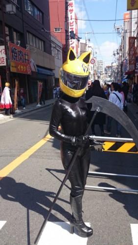 Celty en el festival de cosplay de Osaka.
