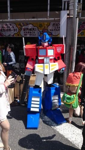 Transformer en el festival de cosplay de Osaka.