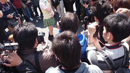 Colegiala en el festival de cosplay de Osaka.
