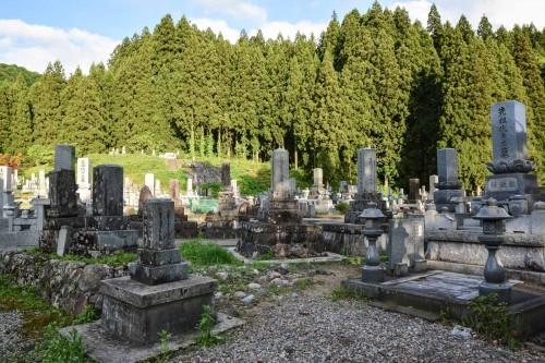 Cementerio de Takane, pueblo de Niigata.