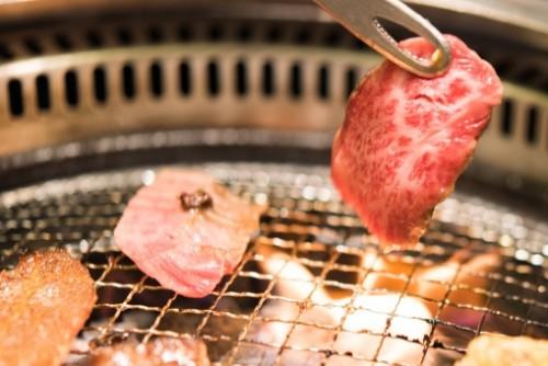 Carne roja japonesa Yakiniku.