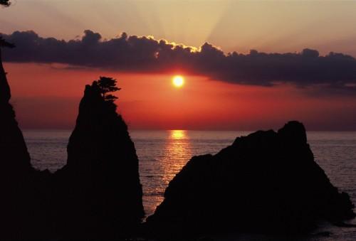 Playa Sasagawa del Mar de Japón.