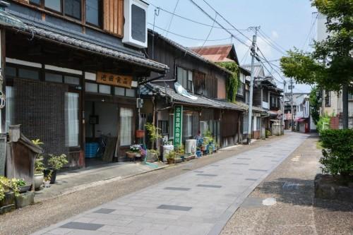 Barrio comercial Kuma de Hita (Oita).
