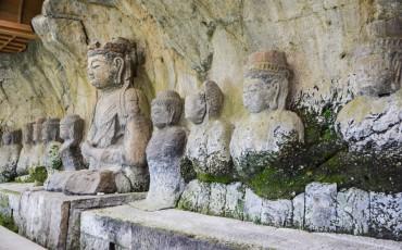 Budas de piedra en Usuki.