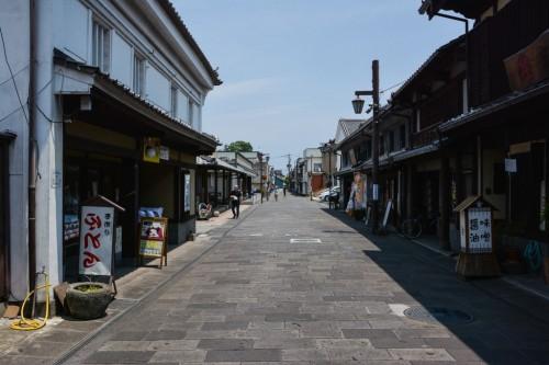 Haccho Oji: calle de compras en Usuki, Oita.
