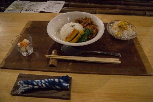 Comida en el Hotel Yuian de Nagiso.