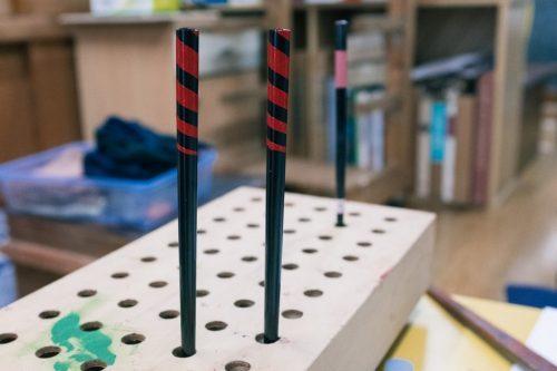 Taller de lacado Kibori Tsuishu de Murakami.