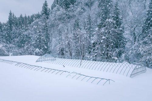 Paisaje nevado de Takane.
