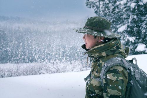Caminando por la nieve de Takane.