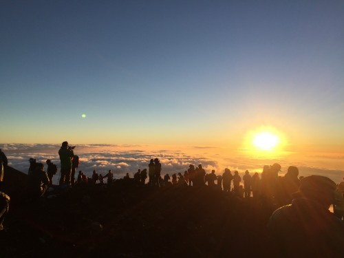 Amanecer en el Monte Fuji.