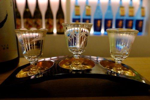 Cata de sake en Fushimi, Kioto.