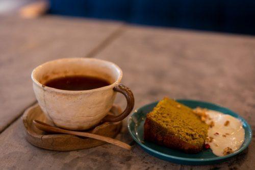 ¡Té increíble! (Assam Tea) y un postre de helado de torta.