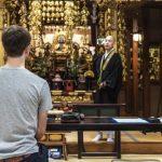 Meditación Zen en el templo en Nakatsugawa, Gifu