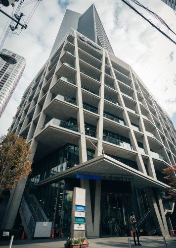 El complejo Chaska Chayamachi de Tadao Ando, Osaka, Japón.